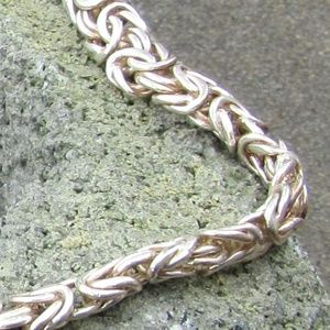 Jewelry - Ornate Italian Silver Chain KL stamp Lovely!